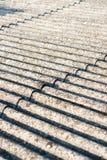 Eternit del tetto dell'amianto fotografia stock