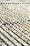 Eternit del tetto dell'amianto fotografia stock libera da diritti