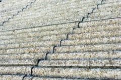Eternit del tetto dell'amianto immagini stock