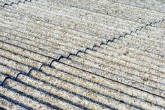 Eternit del tetto dell'amianto fotografie stock libere da diritti