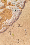 Eternity. The conceptual image, sea water and sand - an eternity symbol Royalty Free Stock Photos