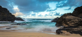 Eternity Beach. In Hawaii where the water never stops movingn stock image