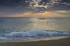 Eternity on Bulgarian sandy shore Royalty Free Stock Image