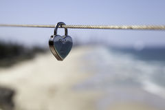 Eternity Lock. Eternity Love Lock on Wire royalty free stock photography
