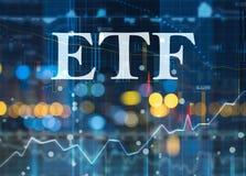 ETF, Austausch gehandelte Kapitalien stockfotografie