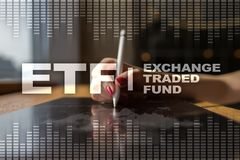 ETF. Exchange traded fund. Business, intenet and technology concept. ETF. Exchange traded fund. Business, intenet and technology concept royalty free stock photography