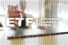 ETF. Exchange traded fund. Business, intenet and technology concept. Stock Images