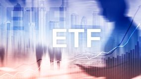 ETF - Exchange traded fund financial and trading tool Business and investment concept. ETF - Exchange traded fund financial and trading tool. Business and royalty free stock image