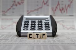ETF Exchange Traded Funds fotografia stock libera da diritti