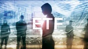 ETF - Ferramenta financeira e trocando do fundo trocado troca Conceito do negócio e do investimento fotografia de stock