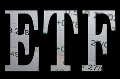 ETF. Inscription ETF (Exchange Traded Fund Royalty Free Stock Images