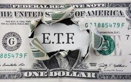 ETF-Investitionsgeld stockbild