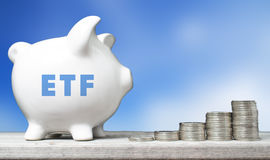 ETF investment concept Royalty Free Stock Photos