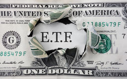 ETF investment money Stock Image