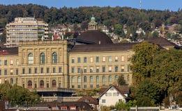 ETH building in Zurich, Switzerland. Zurich, Switzerland - 25 September, 2016: building of the Swiss Federal Institute of Technology in Zurich. Swiss Federal Stock Photos