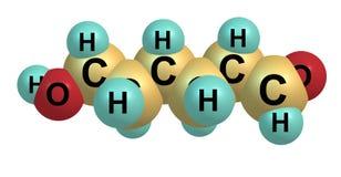 Ethambutol molecule isolated on white Stock Photos