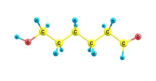 Ethambutol molecule isolated on white Stock Image