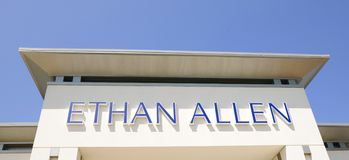 Ethan Allen Furniture Sign fotografia de stock royalty free
