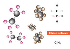 Ethane molecular structure Stock Photography