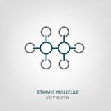 Ethane Molecule Icon Royalty Free Stock Photo