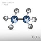 Ethane Molecule Image Royalty Free Stock Photo