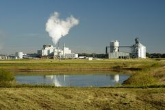 Ethanol 10. An ethanol production plant in South Dakota Royalty Free Stock Images