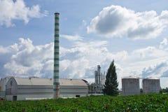 Ethanol factory. In cassava field, Thailand Royalty Free Stock Photos