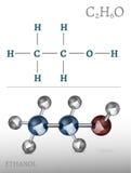 Ethanol Molecule Image Royalty Free Stock Photos
