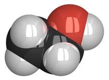 Ethanol molecule isolated on white Stock Image