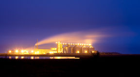 Ethanol plant Stock Photo