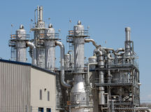 Ethanol Plant. View of portion of ethanol plant in the midwest Royalty Free Stock Photo