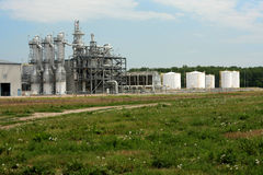 Ethanol Plant. View of ethanol plant in the American midwest Stock Photos