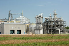 Ethanol Plant. Close-up of operations of ethanol plant in the midwest Stock Image