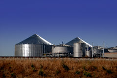 Ethanol Plant. New Ethanol Distillation Plant Under Construction Royalty Free Stock Photo