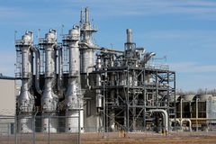 Ethanol Plant. Portion of ethanol plant in the midwest Royalty Free Stock Photography