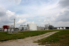 Ethanol Plant. Operations in small town in the midwest Royalty Free Stock Photo