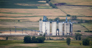 Ethanol Plant. Arial View of an Ethanol plant is South Dakota Stock Images