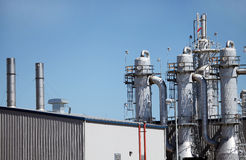 Ethanol Plant Distillation Towers Stock Images