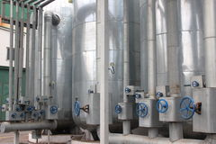Ethanol plant. Industrial plant biofuel processing in the chemical industry Stock Photos
