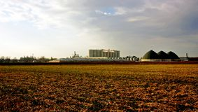 Ethanol production plant. An ethanol production plant in the southwestern Ontario Stock Photography
