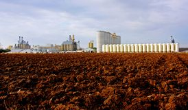 Ethanol production plant. An ethanol production plant in the southwestern Ontario Stock Image