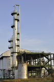 Ethanol refinery. Ethanol refinement columns in eastern Thailand, using cassava as raw material Royalty Free Stock Photos