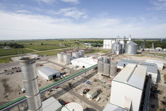 Ethanol Refinery Plant. An ariel view of an ethanol Bio fuel refinery Stock Images