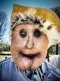 Ethel, den die Dame Garden Scarecrow Texture addierte Stockfotografie