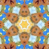 Ethel the Lady Garden Scarecrow Kaleidoscope Royalty Free Stock Photography