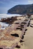 Ethel Shipwreck. The rusty, remains of the Ethel, which sank off the Yorke Penisnsula in 1904. Innes National Park, Yorke Peninsula, South Australia Stock Images