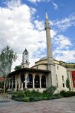 Ethem Bey mosque and clock tower in Tirana. Albania Stock Photos
