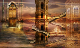 ethereal πύργοι Στοκ εικόνα με δικαίωμα ελεύθερης χρήσης