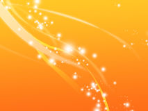 Ethereal Abstract. This soft and glowing orange ethereal abstract composition ads a sense of liveliness and movement to your creative project stock illustration