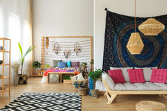 Ethnic apartment interior Royalty Free Stock Image